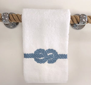 Nautical Knot Embroidered Towels - Nautical Luxuries