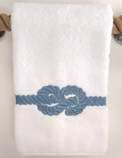 Nautical Knot Embroidered Towels