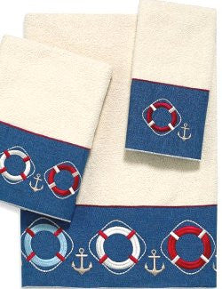 Nautical Life Ring Bath Towel Sets