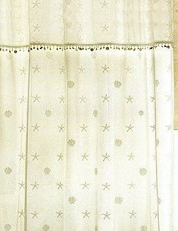 Beach Cottage Sheer Shower Curtain