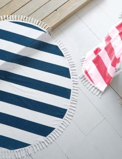 Yacht Chic Circular Beach/Deck Towels - Nautical Luxuries