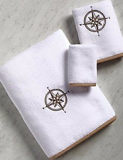 Bias Trim Embroidered Compass Rose Towel Set