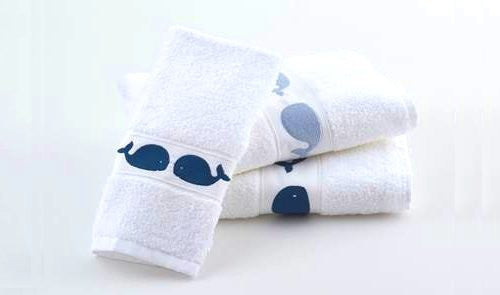 Baby Whales Embroidered Quick-Dry Towel Set