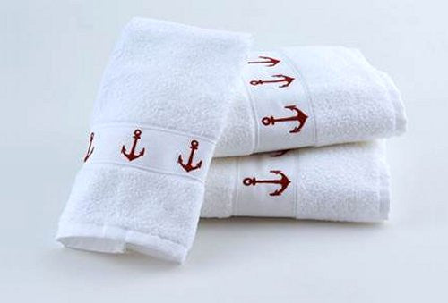 Classic Anchors Embroidered Quick-Dry Towel Sets