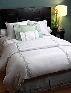 Ocean Waves Luxury Embroidered Bedding Sets - Nautical Luxuries