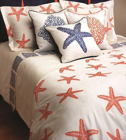 Summer Reef Embroidered Luxury Bedding Collection