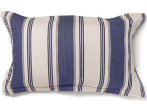 Hatteras Stripe Denim Blue Rustic Bedding Collection - Nautical Luxuries