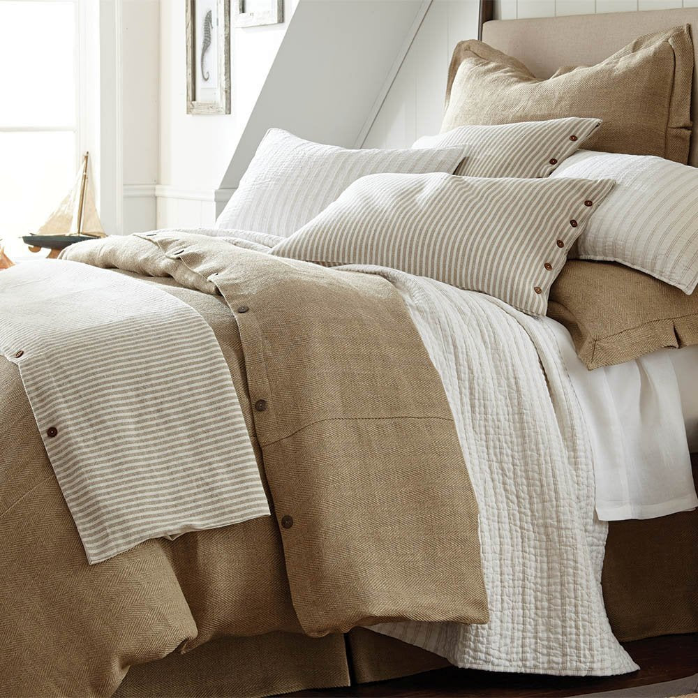 natural linen cotton luxury beach house bedding