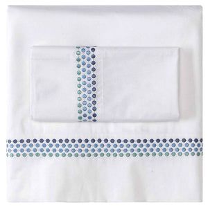Seaside Showers Luxury Embroidered Sheet Sets - Nautical Luxuries