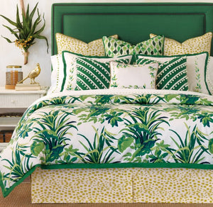 Tropical Palms & Poms Bedding Collection - Nautical Luxuries