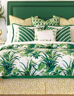 Tropical Palms & Poms Bedding Collection