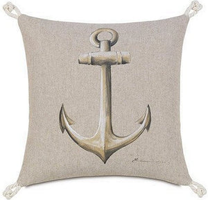 Bosun's Nautical Collection Anchor Accent Pillow - Nautical Luxuries