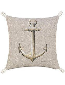 Bosun's Nautical Collection Anchor Accent Pillow