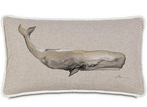 Bosun's Nautical Collection Whale Lumbar Pillow - Nautical Luxuries