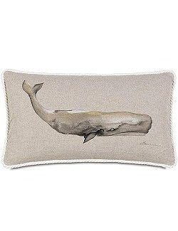 Bosun's Nautical Collection Whale Lumbar Pillow