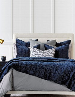 Urban Indigo Quilted Velvet Bedding Collection