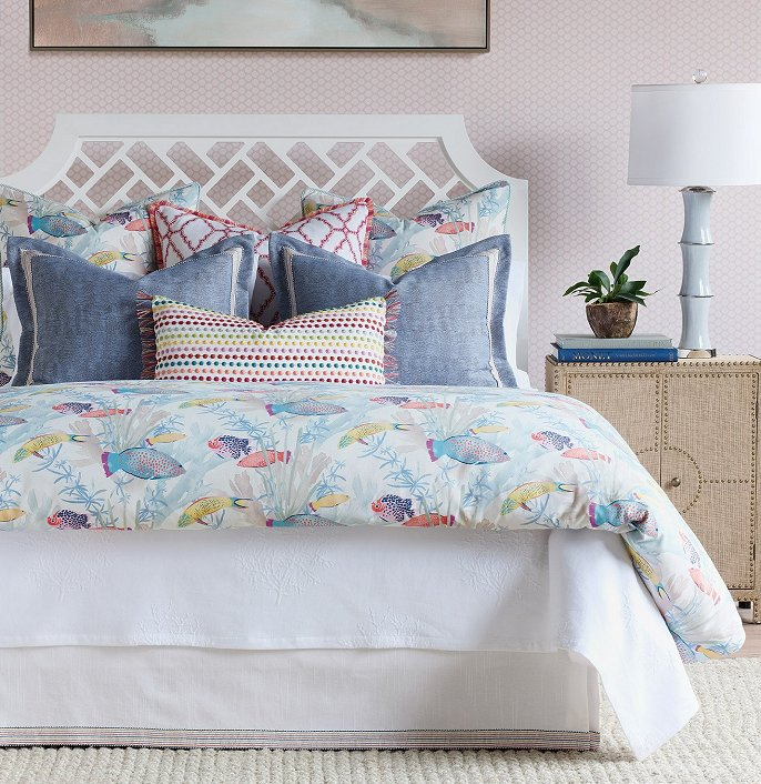 Ocean themed bedding for beach house
