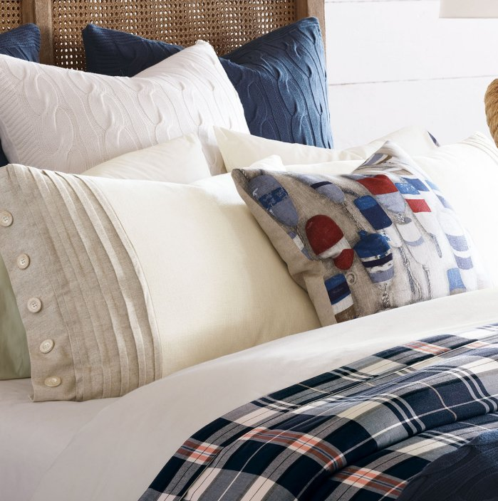 Rustic Nautical Plaid Bedding Collection