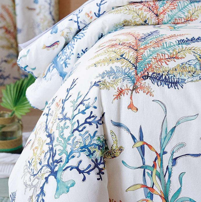 Blue Coral Luxury Bedding Collection - Nautical Luxuries