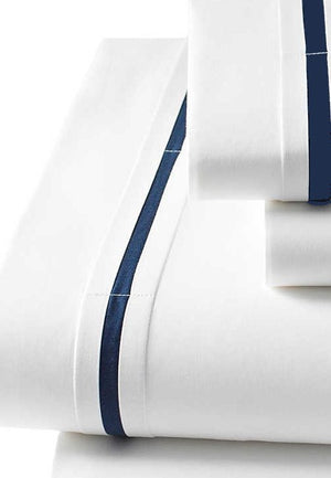 Nautical Blue Stripe Egyptian Cotton Bedding - Nautical Luxuries