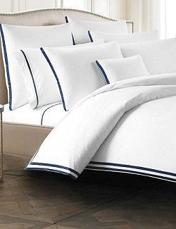 Nautical Blue Stripe Egyptian Cotton Bedding