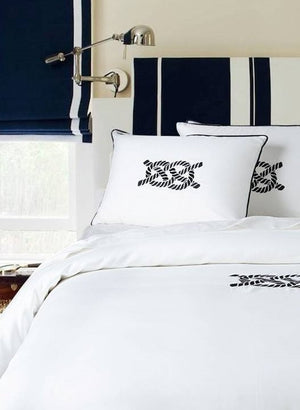 Luxe Nautique: Embroidered Nautical Knot Bedding - Nautical Luxuries