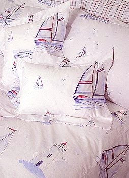 Sailing Away Bed Shams - Nautical Luxuries