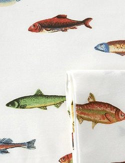 Lake House Fishing Cotton Shower Curtain