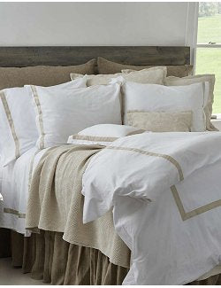 Riviera Bordered Italian Sateen Bedding