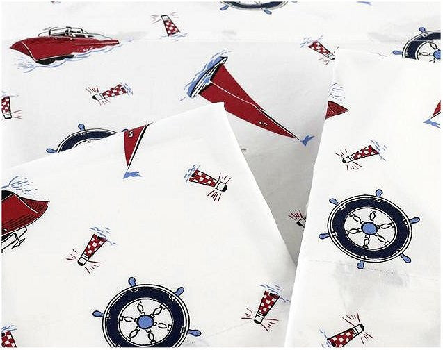Lake House Sailing Sheet Sets - Nautical Luxuries