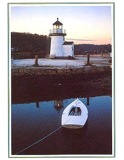 Mystic Lighthouse Blank Note Cards - Nautical Luxuries