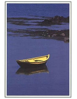 Yellow Dinghy Blank Note Cards
