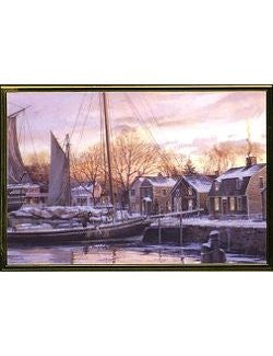 Christmas Dawn At Old Mystic Seaport Boxed Holiday Cards