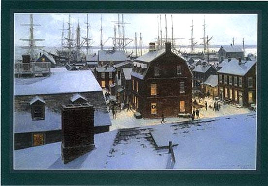 Old Seaport Holiday Evening Boxed Holiday Cards