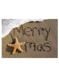 Sea Foam Star X-Mas Greeting Cards