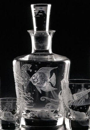 Fruti Di Mare Bohemian Crystal Decanter - Nautical Luxuries