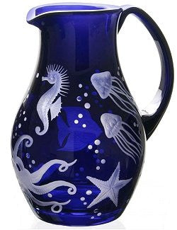 Fruti Di Mare Bohemian Crystal Pitcher - Nautical Luxuries