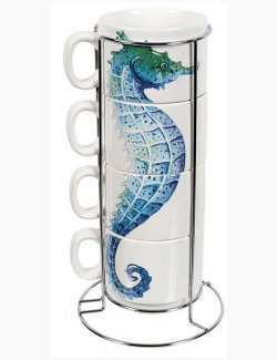 Sea Life Stacking Mug Sets