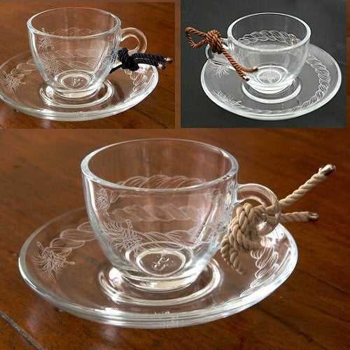 Giovanna Locatelli Engraved Glass Espresso Sets - Nautical Luxuries