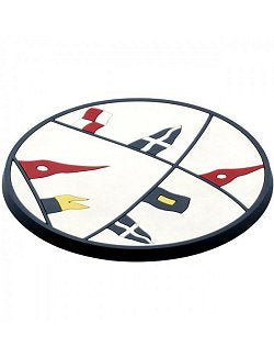 Waving Pennants Non-Skid Coaster Set - Nautical Luxuries