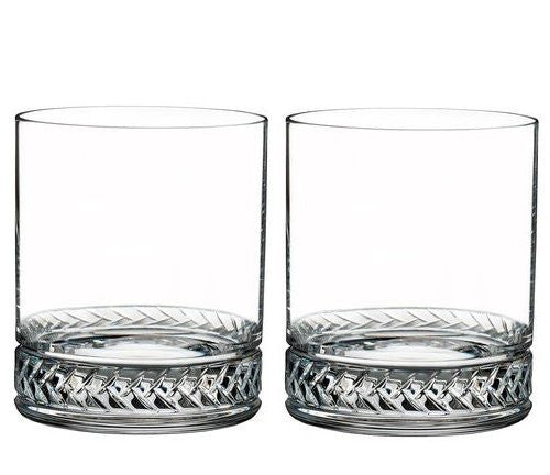 Rope Braid Nautical Crystal Glasses - Nautical Luxuries