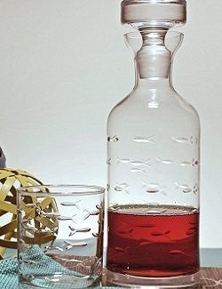 Engraved Fish Liquor Decanter - Nautical Luxuries