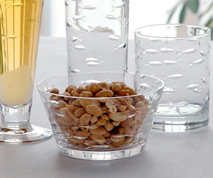 Etched Fish Glass Coastal Nuts/Snacks Bowl Sets - Nautical Luxuries