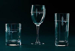 Angler's Etched Glass Barware - Nautical Luxuries
