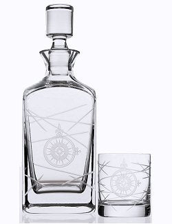 Navigator Compass Rose Whiskey Set - Nautical Luxuries