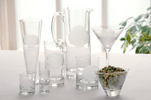 Etched Shell Barware Collection - Nautical Luxuries