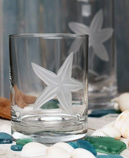 Starfish Garden Coastal Glassware - Nautical Luxuries