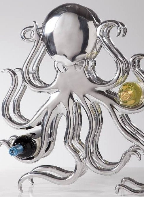 Silvery Tentacles Wine Rack - Nautical Luxuries