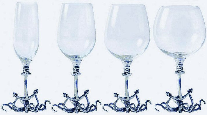 Deep Sea Embrace Pewter Wine Glass Sets