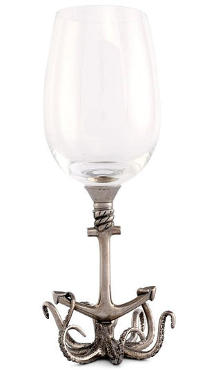 Deep Sea Embrace Pewter Wine Glass Sets - Nautical Luxuries